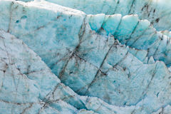 Teste padrão azul da textura do fundo do gelo da geleira Imagens de Stock
