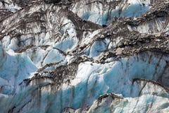 Teste padrão azul da textura do fundo do gelo da geleira Imagem de Stock