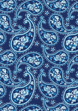 Teste padrão azul de paisley Fotos de Stock Royalty Free