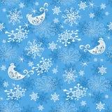 Teste padrão azul delicado do Natal do sumário ilustração stock