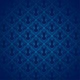 Teste padrão azul do damasco Imagens de Stock Royalty Free