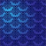 Teste padrão azul do damasco Imagem de Stock