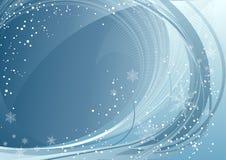 Teste padrão azul do inverno Fotos de Stock