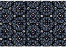 Teste padrão azul do medalhão Foto de Stock Royalty Free