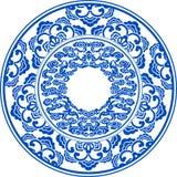 Teste padrão azul e branco Foto de Stock