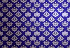 Teste padrão azul e de prata do vetor do encanto Imagens de Stock Royalty Free