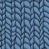 Teste padrão azul feito malha sem emenda Fotografia de Stock Royalty Free