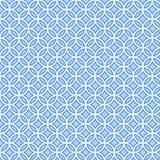 Teste padrão azul geométrico Imagens de Stock Royalty Free