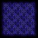 teste padrão azul geométrico tirado mão Fotografia de Stock