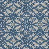 Teste padrão azul japonês da folha do cânhamo Fotografia de Stock