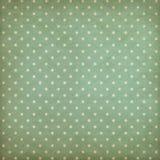 Teste padrão azul ou ciano do às bolinhas retro em velho Fotos de Stock
