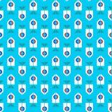 Teste padrão azul retro ilustração stock
