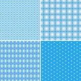 Teste padrão azul sem emenda ilustração stock
