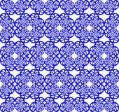 teste padrão azul sem emenda Fotografia de Stock