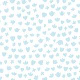 Teste padrão azul sem emenda do berçário do vetor com formas arredondadas Bom para a textura do papel de envolvimento, cartazes,  fotos de stock royalty free