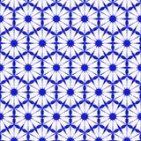 Teste padrão azul sem emenda do papel de parede Imagem de Stock