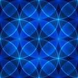 Teste padrão azul sem emenda do vetor Fotografia de Stock