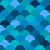 Teste padrão azul sem emenda, squama, estilo do boho Imagem de Stock Royalty Free
