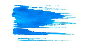 Teste padrão azul sujo da escova Imagens de Stock