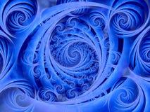Teste padrão azul Wispy das espirais imagens de stock