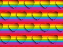 Teste padrão Backgroun de Valentine Day Gay Heart Seamless ilustração do vetor