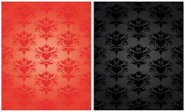 Teste padrão barroco com coração foto de stock