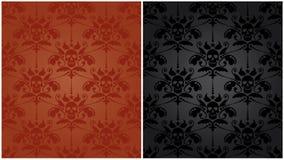 Teste padrão barroco com crânios Imagens de Stock Royalty Free
