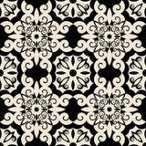 Teste padrão barroco decorativo Fotos de Stock