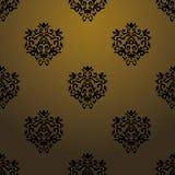 Teste padrão barroco preto exclusivo Fotos de Stock