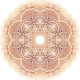 Teste padrão bege do círculo da garatuja do vetor do vintage ornamentado Imagens de Stock