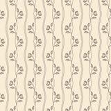Teste padrão bege sem emenda do vintage do esboço com flor ilustração do vetor