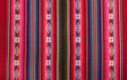 Teste padrão boliviano vermelho Fotos de Stock Royalty Free