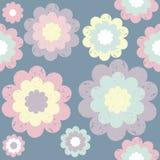 Teste padrão bonito à moda com elementos florais Imagem de Stock Royalty Free