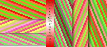 Teste padrão bonito brilhante sem emenda de listras diagonais e horizontais iridescentes da espessura igual para meninas ou crian Imagens de Stock