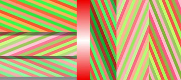 Teste padrão bonito brilhante sem emenda de listras diagonais e horizontais iridescentes da espessura igual para meninas ou crian Imagem de Stock Royalty Free