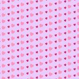 Teste padrão bonito com corações Fotos de Stock