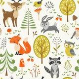 Teste padrão bonito da floresta ilustração royalty free