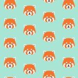 Teste padrão bonito da panda vermelha Foto de Stock Royalty Free