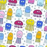 Teste padrão bonito das medusa Fotografia de Stock Royalty Free