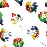 Teste padrão bonito de cópias bonitas das folhas ilustração royalty free