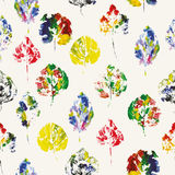 Teste padrão bonito de cópias bonitas das folhas ilustração do vetor