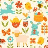 Teste padrão bonito de Easter Fotos de Stock Royalty Free