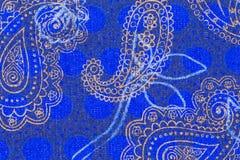 Teste padrão bonito de paisley no pano Imagens de Stock