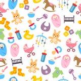 Teste padrão bonito do bebê Imagens de Stock