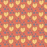 Teste padrão bonito do coração do vintage Imagem de Stock