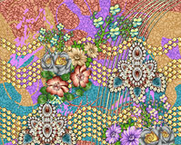 Teste padrão bonito do fundo da flor Fotografia de Stock Royalty Free