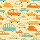 Teste padrão bonito dos carros Imagens de Stock