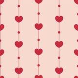 Teste padrão bonito dos corações Foto de Stock