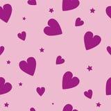 Teste padrão bonito dos corações dos Valentim Foto de Stock