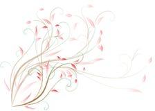 Teste padrão bonito dos rolos e das folhas Fotos de Stock Royalty Free